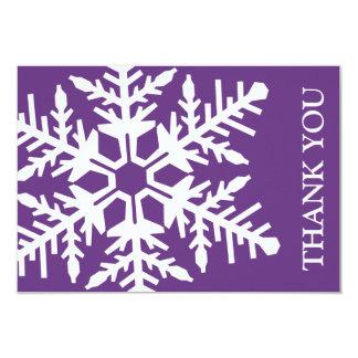 Carte de remerciements enorme de flocon de neige