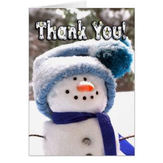 Carte de remerciements fait main adorable de