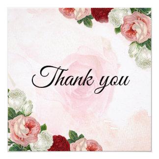 Carte de remerciements fait sur commande de