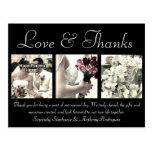 Carte de remerciements fait sur commande de mariag cartes postales