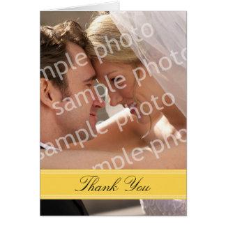 Carte de remerciements fait sur commande de photo