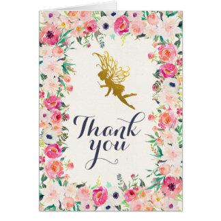 Carte de remerciements féerique