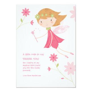 Carte de remerciements féerique magique lunatique