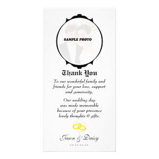 Carte de remerciements (fiançailles/mariage/annive modèle pour photocarte