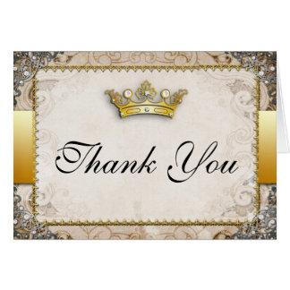 Carte de remerciements fleuri de mariage de conte