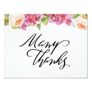 Carte de remerciements floral animé