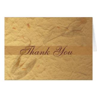 Carte de remerciements floral beige