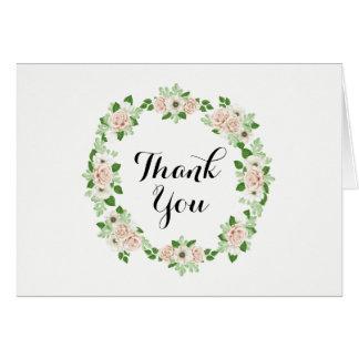 Carte de remerciements floral d'aquarelle