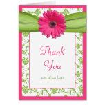 Carte de remerciements floral de mariage de margue