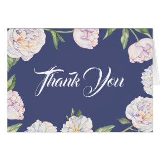 Carte de remerciements floral de ressort de
