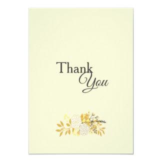 Carte de remerciements floral ensoleillé