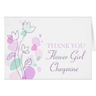 Carte de remerciements floral graphique de