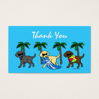 Carte de remerciements frais de Labradors