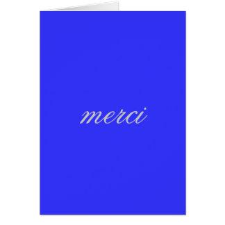 Carte de remerciements français