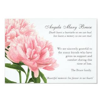 Carte de remerciements funèbre de sympathie de