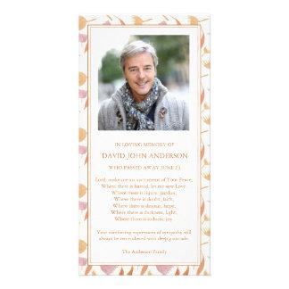 Carte de remerciements funèbre de sympathie de photocartes personnalisées