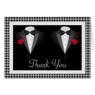 Carte de remerciements gai de mariage avec deux