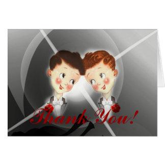 Carte de remerciements gai de mariage de mariés