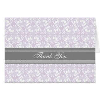 Carte de remerciements gris lilas de baby shower
