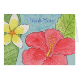 Carte de remerciements hawaïen