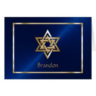 Carte de remerciements juif d'étoile de David