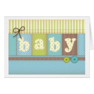 Carte de remerciements mignon couvrant de bébé
