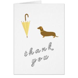 Carte de remerciements mignon de marcheur de chien