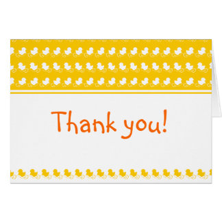 carte de remerciements mignon jaune de baby shower
