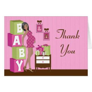 Carte de remerciements moderne de baby shower