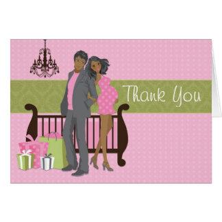Carte de remerciements moderne de baby shower de