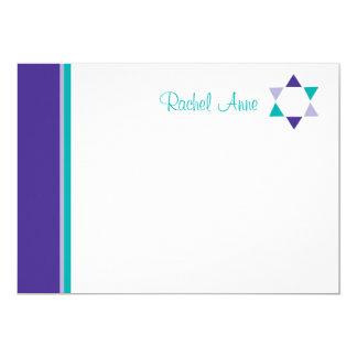 Carte de remerciements moderne de bat mitzvah