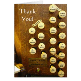 Carte de remerciements - mon organe idéal