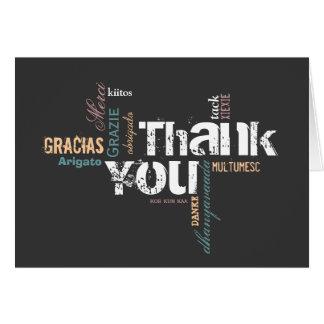 Carte de remerciements multilingue
