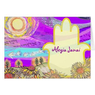 Carte de remerciements musical de bat mitzvah de