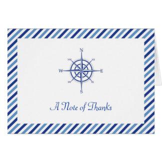 Carte de remerciements nautique de boussole