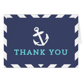 Carte de remerciements nautique de Chevron de