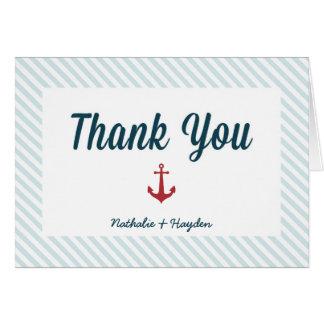 Carte de remerciements nautique de mariage
