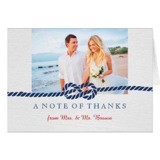 Carte de remerciements nautique de mariage de