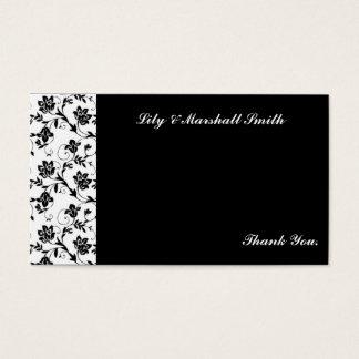 Carte de remerciements noir d'élégance
