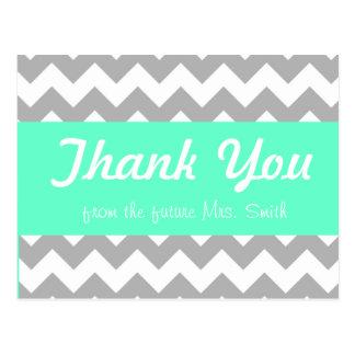 carte de remerciements nuptiale de douche