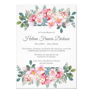 Carte de remerciements parfumé de mémorial de