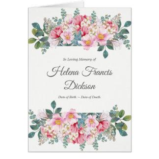 Carte de remerciements parfumé de sympathie de