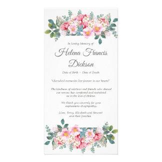Carte de remerciements parfumé d'enterrement de