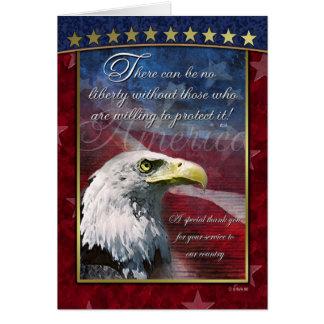 Carte de remerciements patriotique chauve d'Eagle