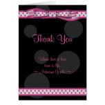 Carte de remerciements personnalisable de point de