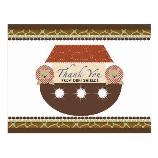 Carte de remerciements plat de l'arche de Noé