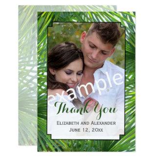 Carte de remerciements plat de photo de mariage de carton d'invitation 8,89 cm x 12,70 cm