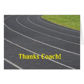 Carte de remerciements pour l'entraîneur !