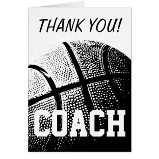 Carte de remerciements pour l'entraîneur de