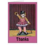 Carte de remerciements pour l'instructeur de danse